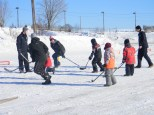 Young Group with Slammers for Street Hockey