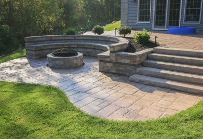 Hardscape design and installation example in Rochester NY