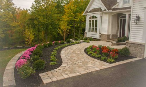 Front Yard Landscape Design Greece NY