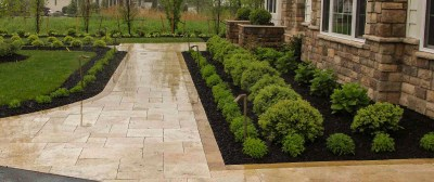 Front Yard Landscaping & Walkway Rochester NY