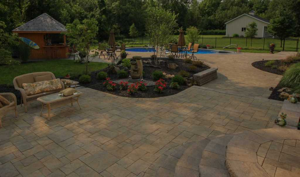 After inground Pool and Landscape Renovation. Adds home value.