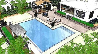 Inground pool design example in Rochester NY