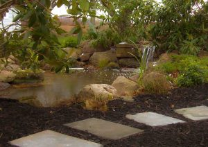 Landscape Boulders used for a pond & waterfalls in Rochester NY