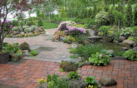Backyard Landscaping Pond and waterfalls in Rochester NY