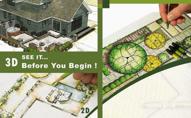 2D & 3D Landscape Design Example