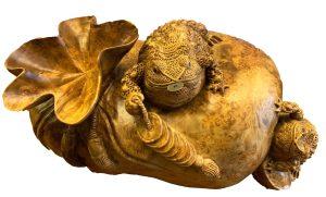 帶財福袋蟾蜍 黃金樟樹瘤