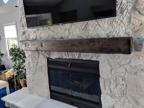 Wood Fireplace Mantels Shelves Nj Barn Reclaimed Rustic Look