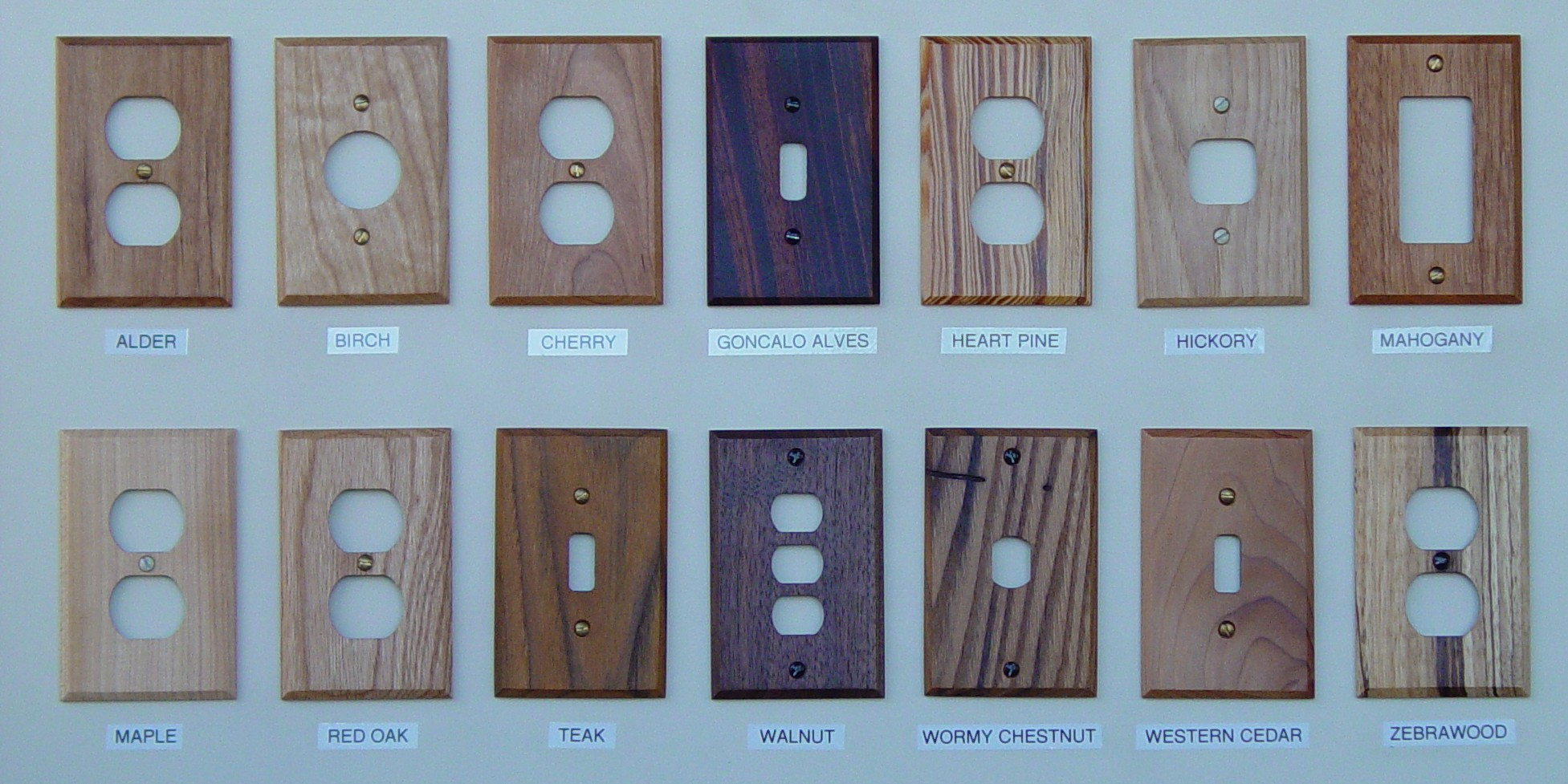 We Sell Wood Switch Plates, Wood Wall Plates And Log Wood
