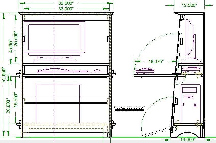 plans computer desk