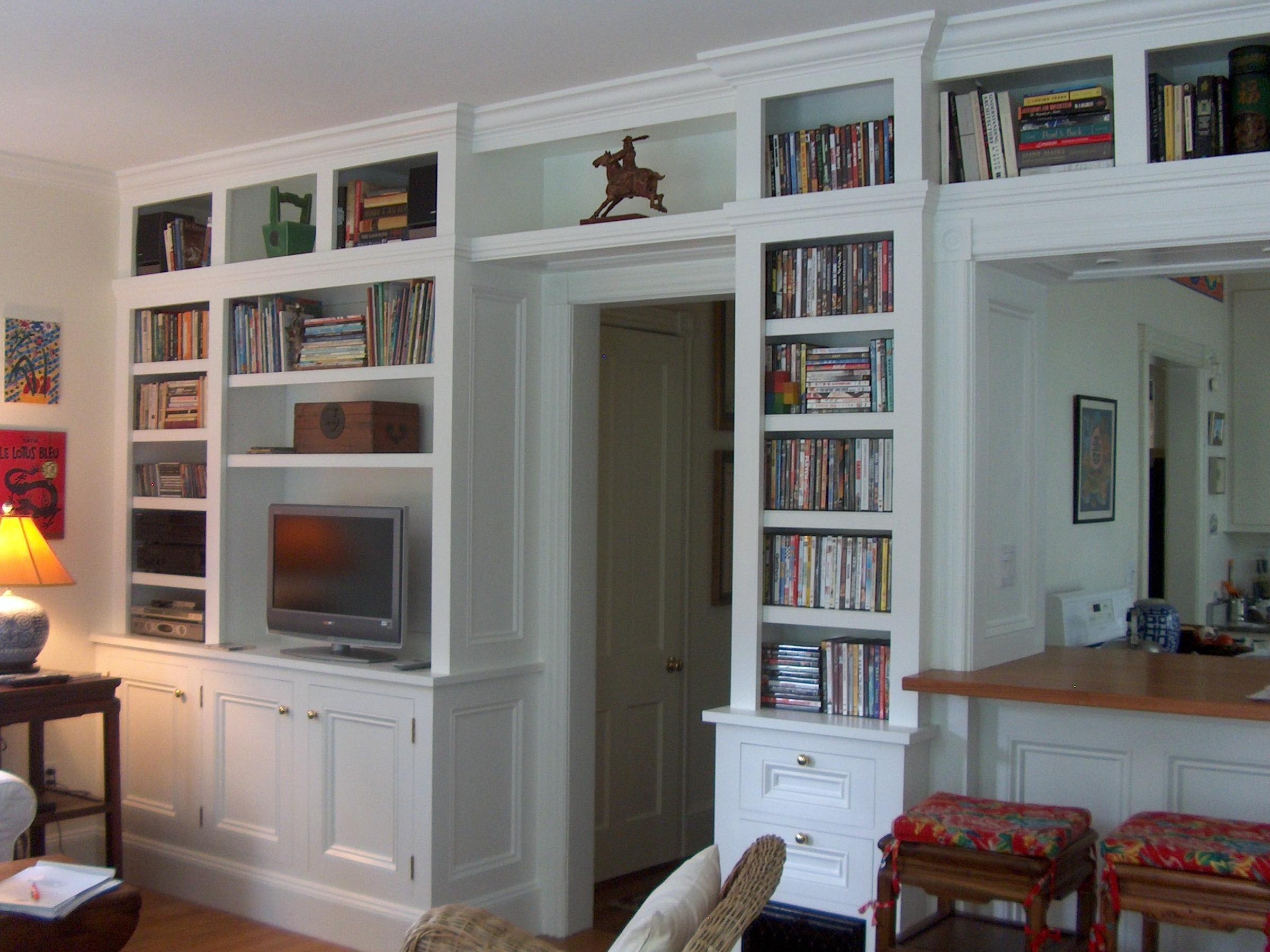 Bookcase, Built-in Media Cabinet