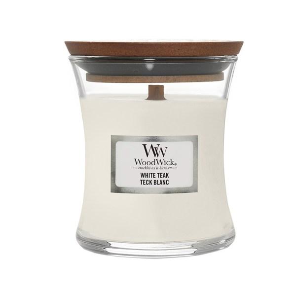 WoodWick White Teak Medium Hourglass side