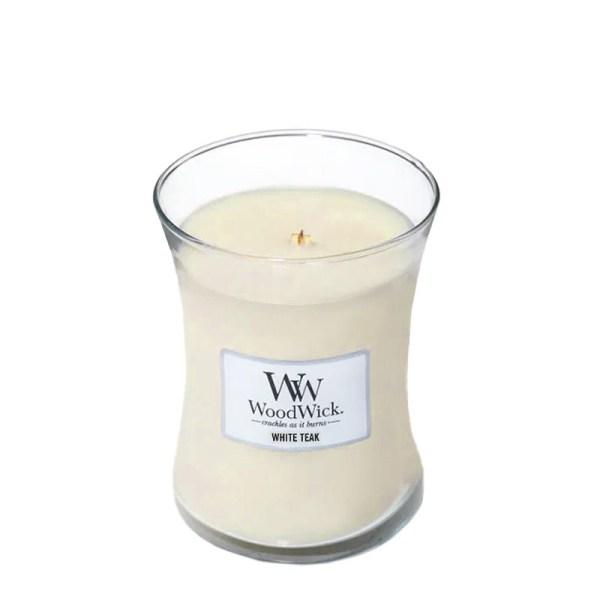 WoodWick White Teak Medium Hourglass
