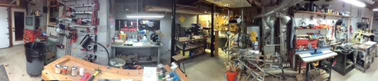 Panorama of the other half of my shop.