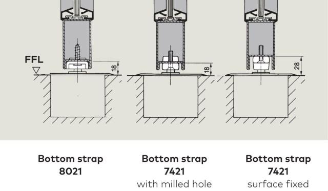 Bottom Strap suface fixing | Woodwood Door Controls