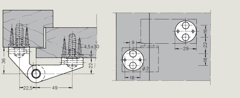 LM Pivot Hinges for over rebated doors   Woodwood Door Controls