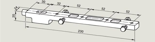 Universal Bottom Strap 7422 | Woodwood Door Control
