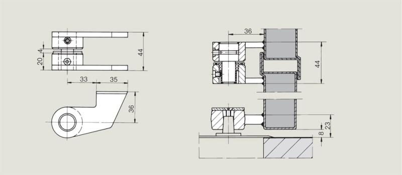 Weld on top centre | Woodwood Door Controls