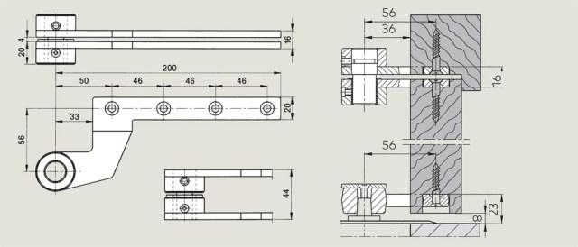 off set timber door top centre | Woodwood Door Controls