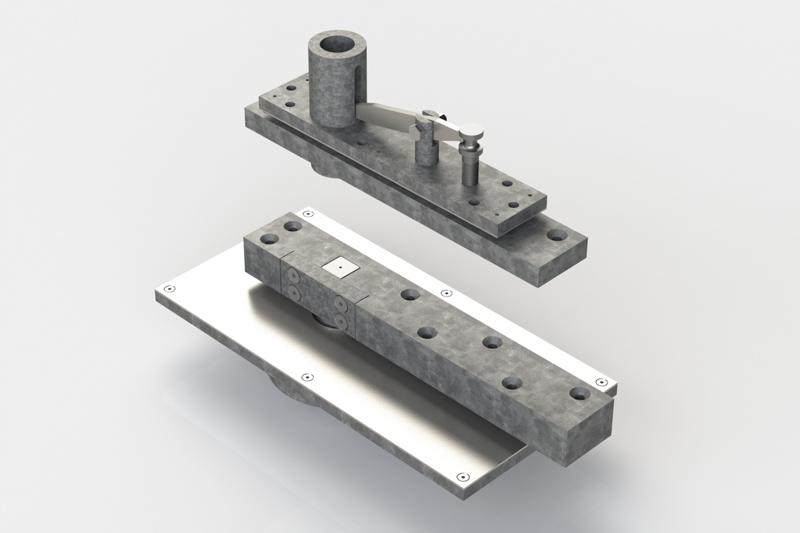 HW400PV-650 side load pivot set   Woodwood Door Controls
