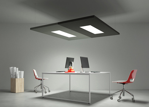 Acoustic Ceiling Panels with LED Lights | Woodwood Group