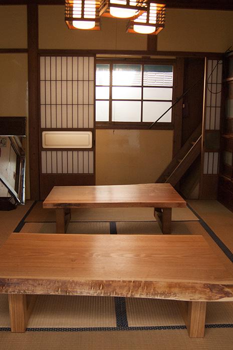 タモとカバ 一枚板天板ローテーブル