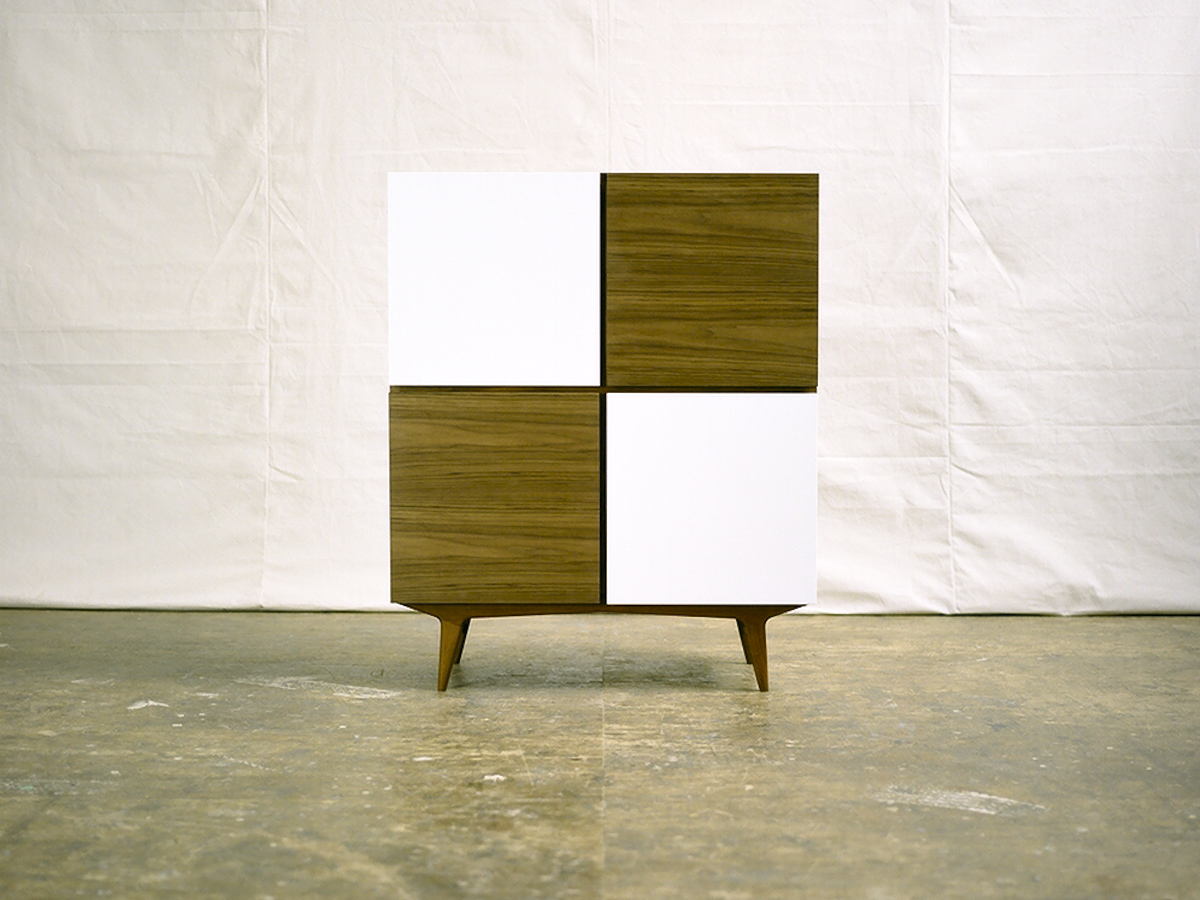 TONE CABINET / walnut + white