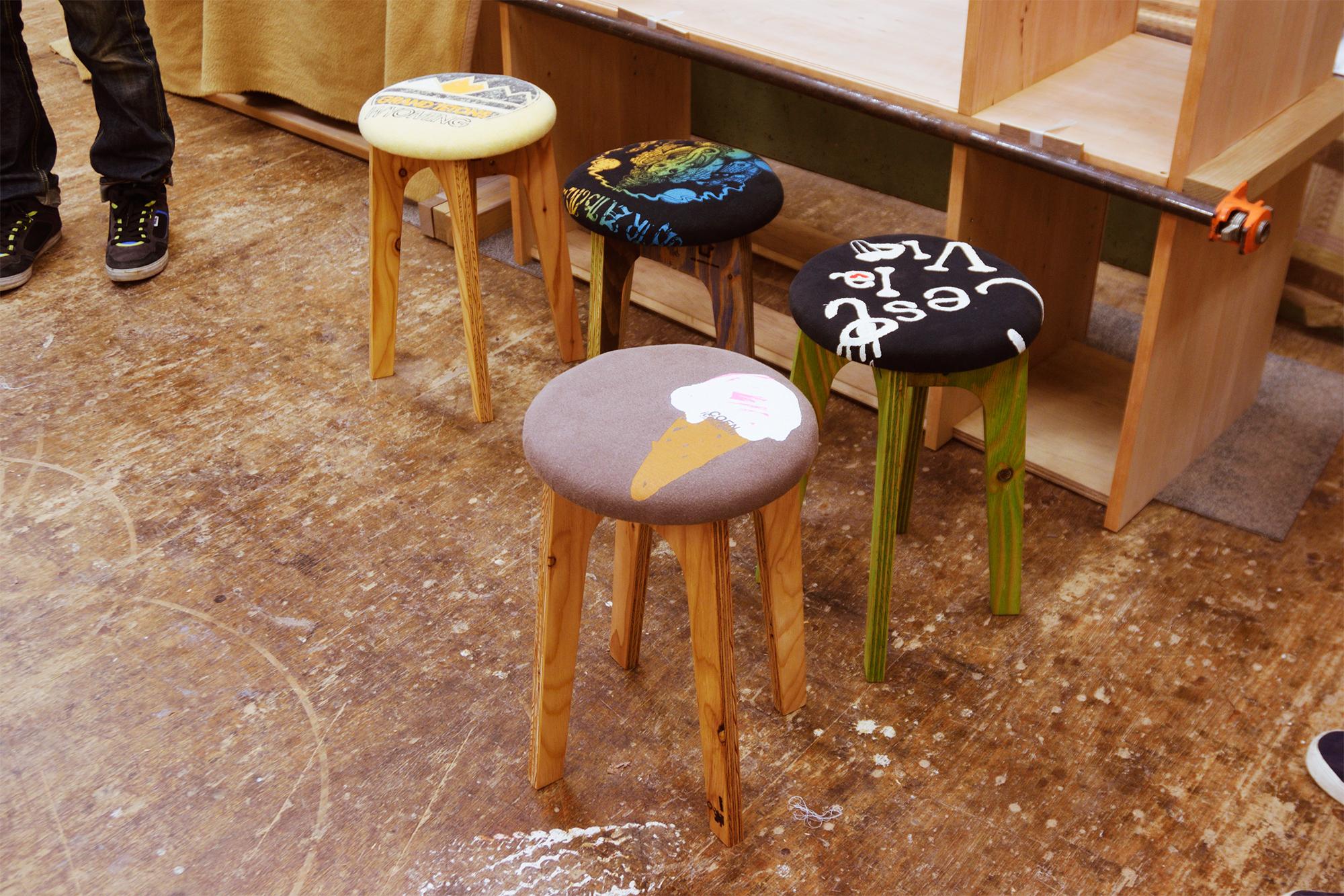 old clothes stool ワークショップ