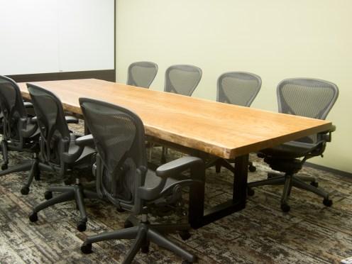 アメリカンブラックチェリー二枚接ぎ天板会議室用大テーブル americancherry