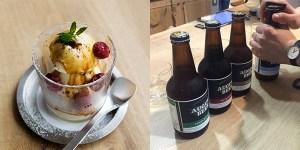 夏祭り限定メニュー アフォガート 2種類とビール