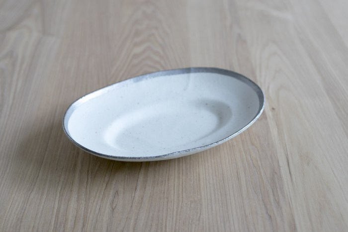小玉陶器 MY DISH / Oval / Platinum