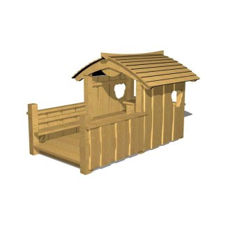 woodwork ab - lekstuga med altan