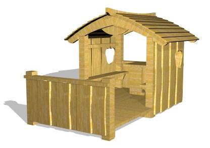 Woodwork ab - lekstuga med altan-5018