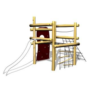 Klättertorn, klätterställning, klätternät, woodwork ab