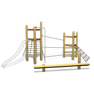 Klätterställning, klättertorn, balans, woodwork ab