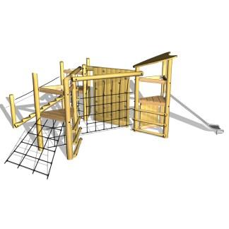 Woodwork AB-klättersystem i robinia med tre torn
