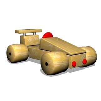 Woodwork AB-Temalek-racerbil i trä