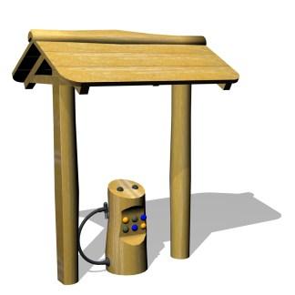 Woodwork AB-Bensinpump med tak