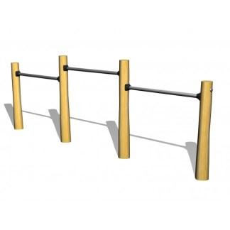 G2972 Woodwork AB Kullerbyttastativ av obehandlad robinia i tre olika höjder