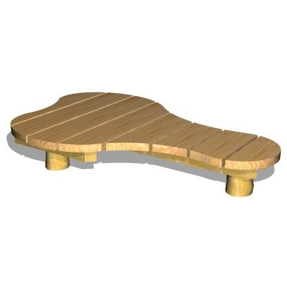 Plattform/lekbord i organisk form - WoodworkAB
