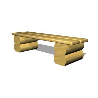 Woodwork AB-parkbänk i trä