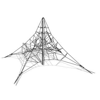 Woodwork AB-Klätterpyramid i stål, 4m