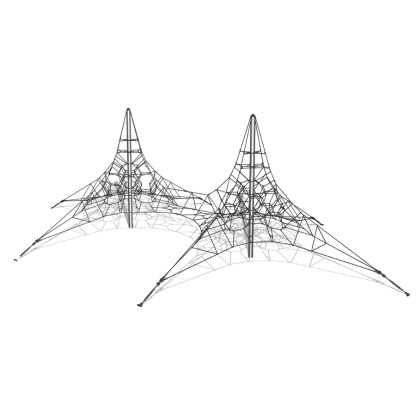 Woodwork AB-Dubbel klätterpyramid i stål, 6m