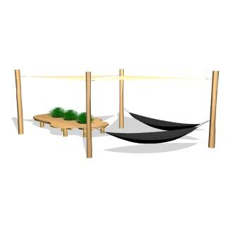 Woodwork AB-hängmattor med solsegel & sittmöbel