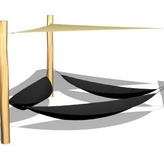Woodwork AB-hängmattor med solsegel