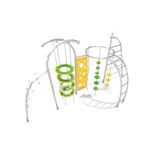 Klättersystem i rostfritt stål, +3å