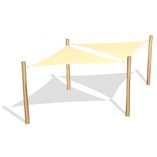 G26404 Två trekantiga solsegel i HDPE från Woodwork AB