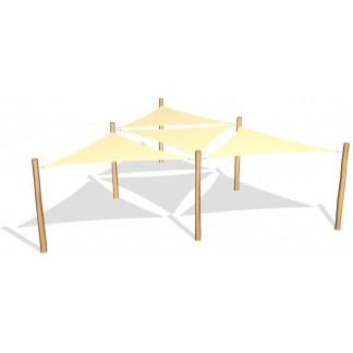 G26412 4 st trekantiga solsegel av HDPE från Woodwork AB