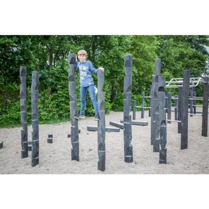 G3640 Klätterskog till parkour i robinia från Woodwork AB