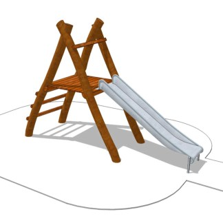 Woodwork AB-trappstege med rutchkana