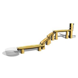 Woodwork AB-vattenlek med kanaler
